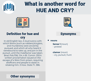 hue and cry, synonym hue and cry, another word for hue and cry, words like hue and cry, thesaurus hue and cry