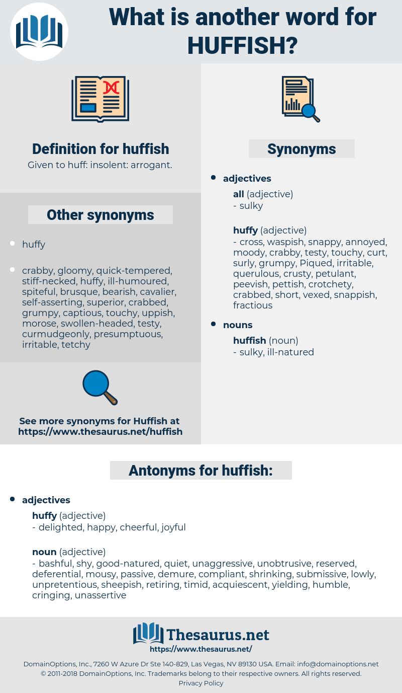 huffish, synonym huffish, another word for huffish, words like huffish, thesaurus huffish