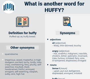 huffy, synonym huffy, another word for huffy, words like huffy, thesaurus huffy