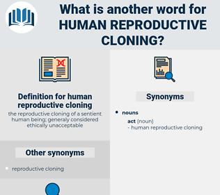 human reproductive cloning, synonym human reproductive cloning, another word for human reproductive cloning, words like human reproductive cloning, thesaurus human reproductive cloning