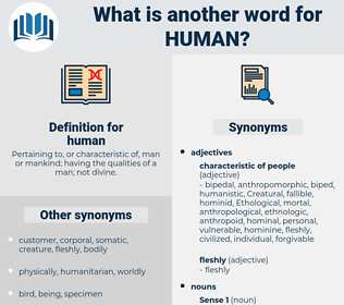human, synonym human, another word for human, words like human, thesaurus human