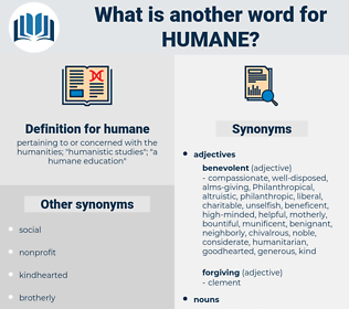 humane, synonym humane, another word for humane, words like humane, thesaurus humane