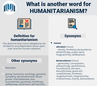 humanitarianism, synonym humanitarianism, another word for humanitarianism, words like humanitarianism, thesaurus humanitarianism