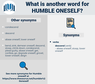 humble oneself, synonym humble oneself, another word for humble oneself, words like humble oneself, thesaurus humble oneself