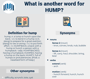 hump, synonym hump, another word for hump, words like hump, thesaurus hump