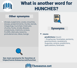 hunches, synonym hunches, another word for hunches, words like hunches, thesaurus hunches