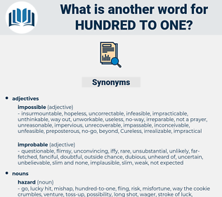 hundred-to-one, synonym hundred-to-one, another word for hundred-to-one, words like hundred-to-one, thesaurus hundred-to-one