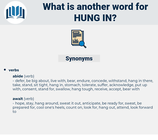 hung in, synonym hung in, another word for hung in, words like hung in, thesaurus hung in