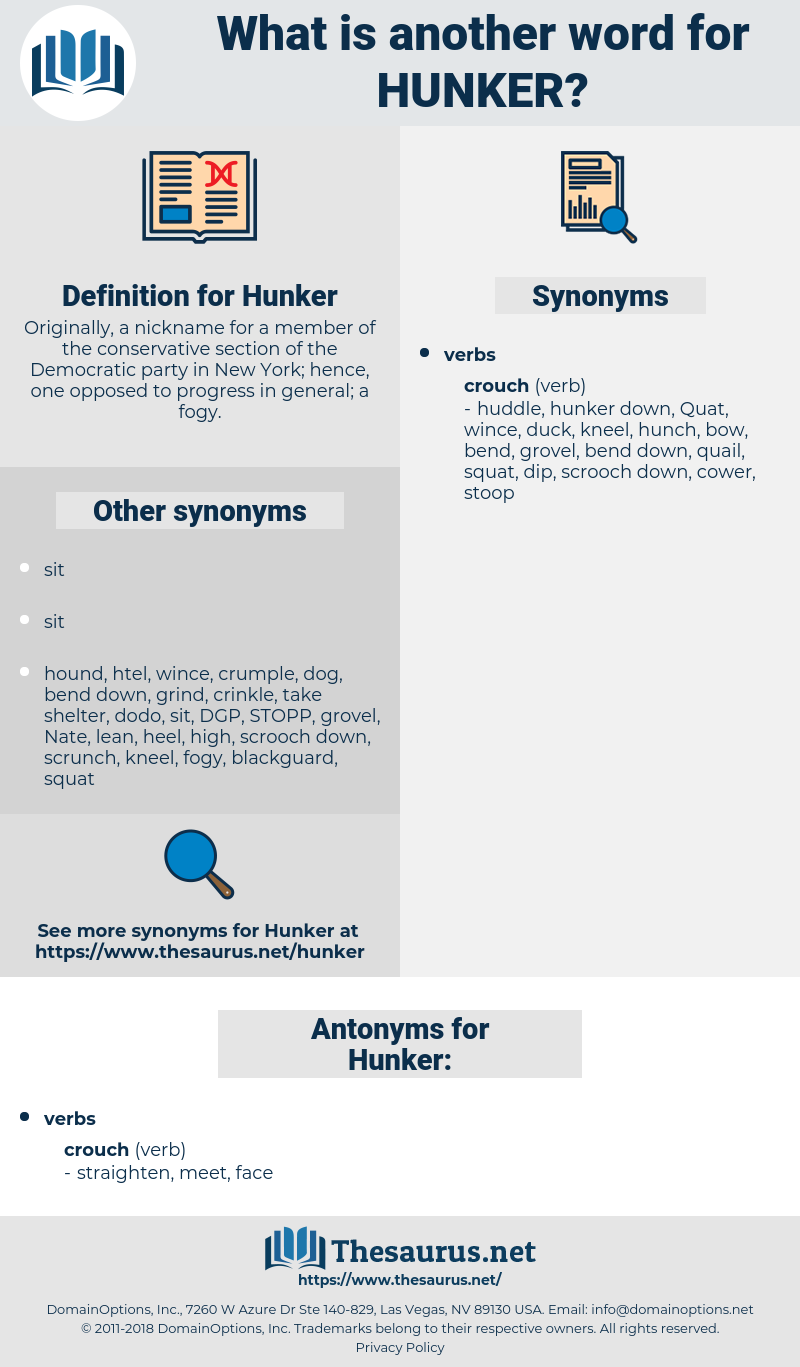 Hunker, synonym Hunker, another word for Hunker, words like Hunker, thesaurus Hunker