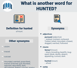 hunted, synonym hunted, another word for hunted, words like hunted, thesaurus hunted