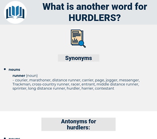 hurdlers, synonym hurdlers, another word for hurdlers, words like hurdlers, thesaurus hurdlers