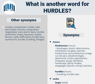 hurdles, synonym hurdles, another word for hurdles, words like hurdles, thesaurus hurdles