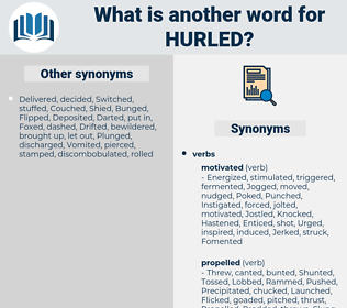 Hurled, synonym Hurled, another word for Hurled, words like Hurled, thesaurus Hurled