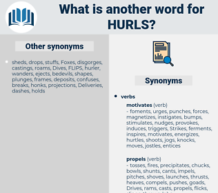 hurls, synonym hurls, another word for hurls, words like hurls, thesaurus hurls