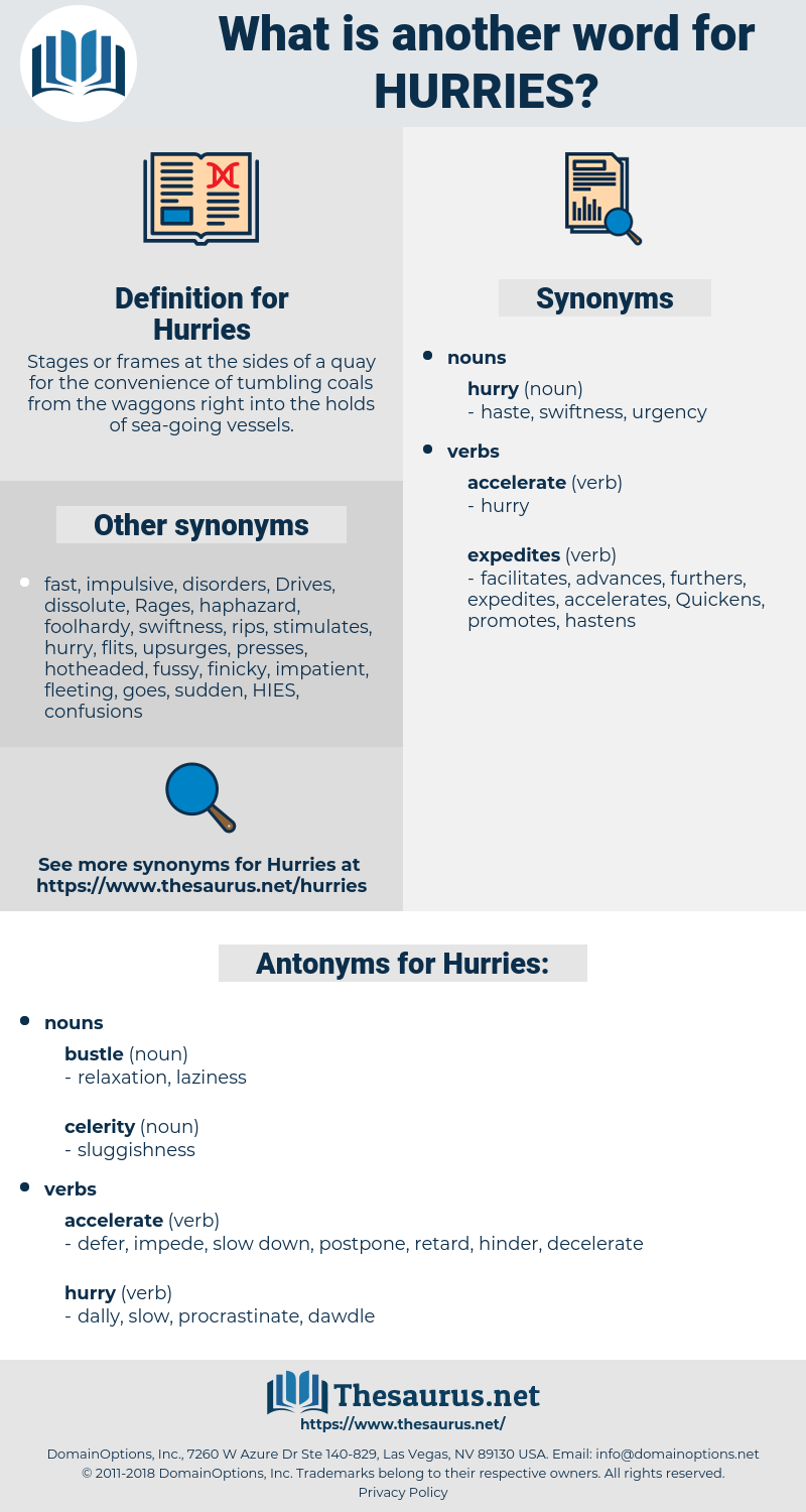 Hurries, synonym Hurries, another word for Hurries, words like Hurries, thesaurus Hurries