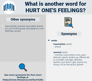 hurt one's feelings, synonym hurt one's feelings, another word for hurt one's feelings, words like hurt one's feelings, thesaurus hurt one's feelings
