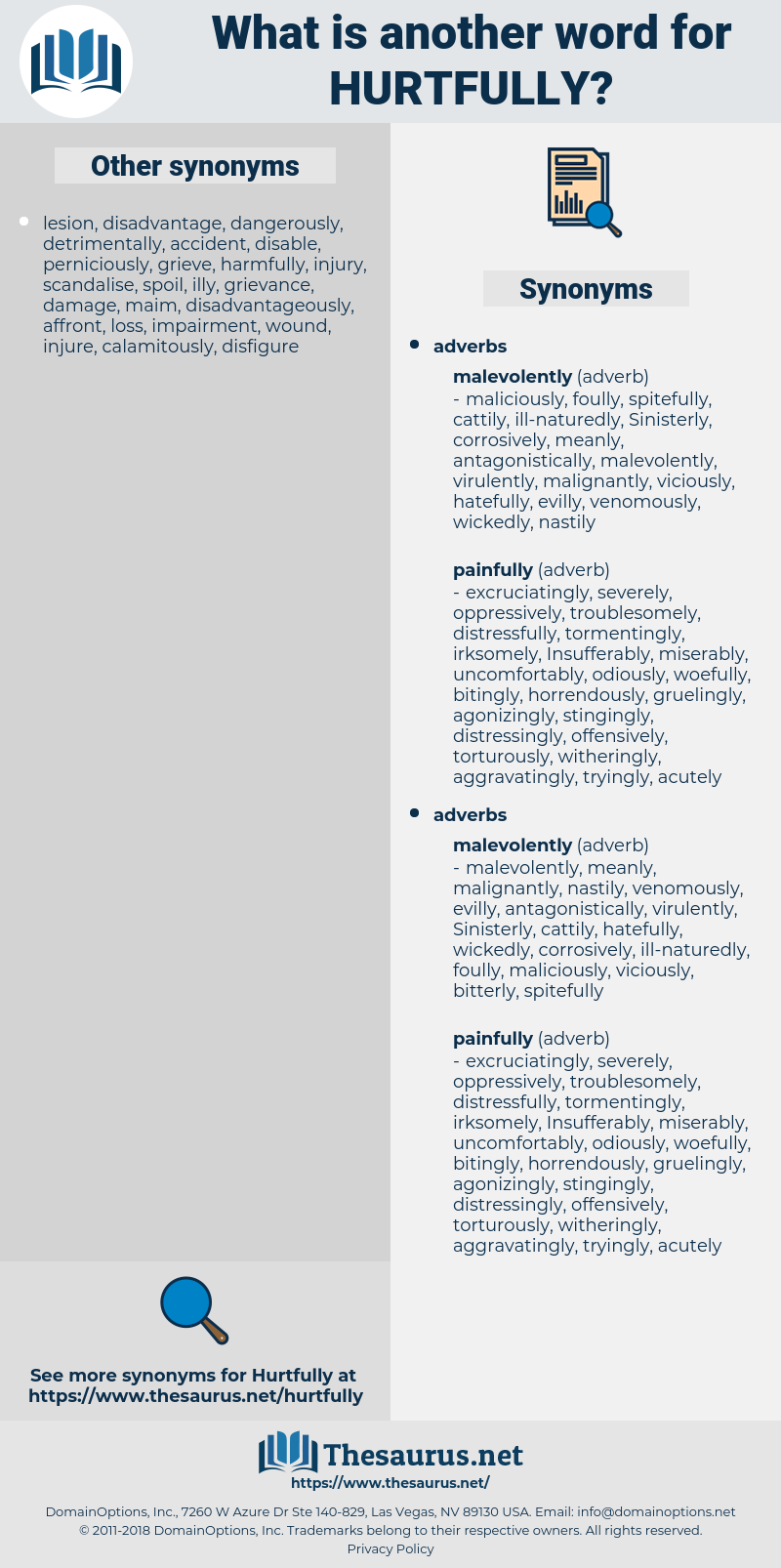 hurtfully, synonym hurtfully, another word for hurtfully, words like hurtfully, thesaurus hurtfully