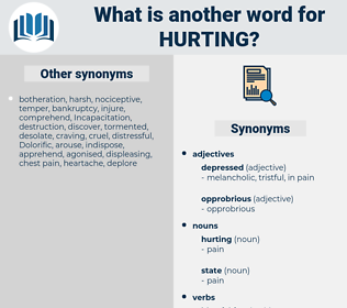 hurting, synonym hurting, another word for hurting, words like hurting, thesaurus hurting