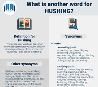 Hushing, synonym Hushing, another word for Hushing, words like Hushing, thesaurus Hushing
