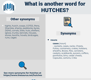 hutches, synonym hutches, another word for hutches, words like hutches, thesaurus hutches