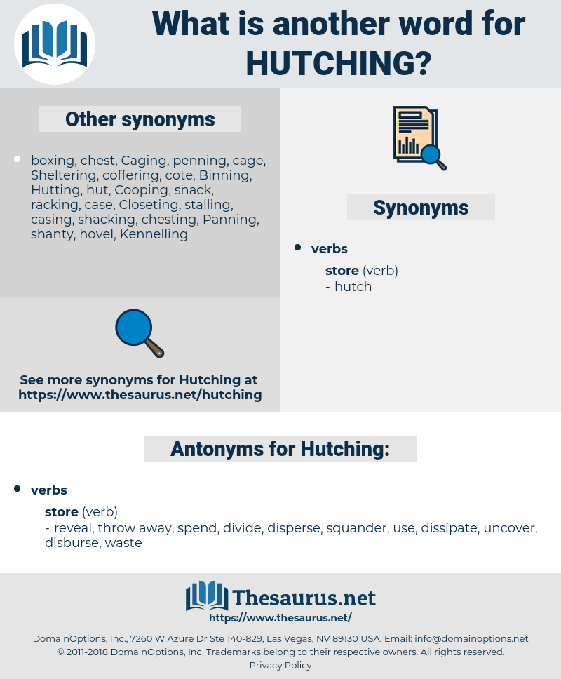Hutching, synonym Hutching, another word for Hutching, words like Hutching, thesaurus Hutching
