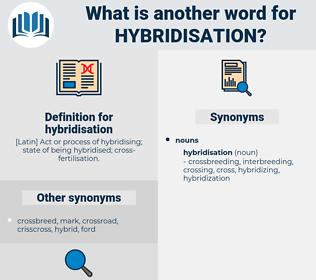 hybridisation, synonym hybridisation, another word for hybridisation, words like hybridisation, thesaurus hybridisation