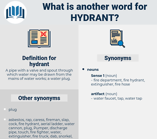 hydrant, synonym hydrant, another word for hydrant, words like hydrant, thesaurus hydrant