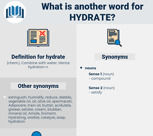 hydrate, synonym hydrate, another word for hydrate, words like hydrate, thesaurus hydrate