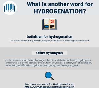 hydrogenation, synonym hydrogenation, another word for hydrogenation, words like hydrogenation, thesaurus hydrogenation