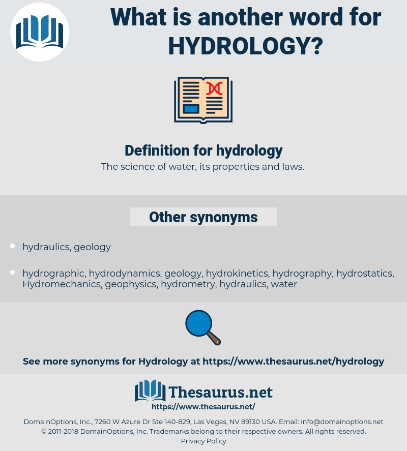 hydrology, synonym hydrology, another word for hydrology, words like hydrology, thesaurus hydrology