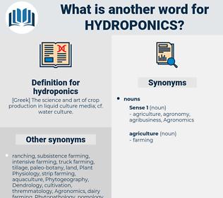 hydroponics, synonym hydroponics, another word for hydroponics, words like hydroponics, thesaurus hydroponics