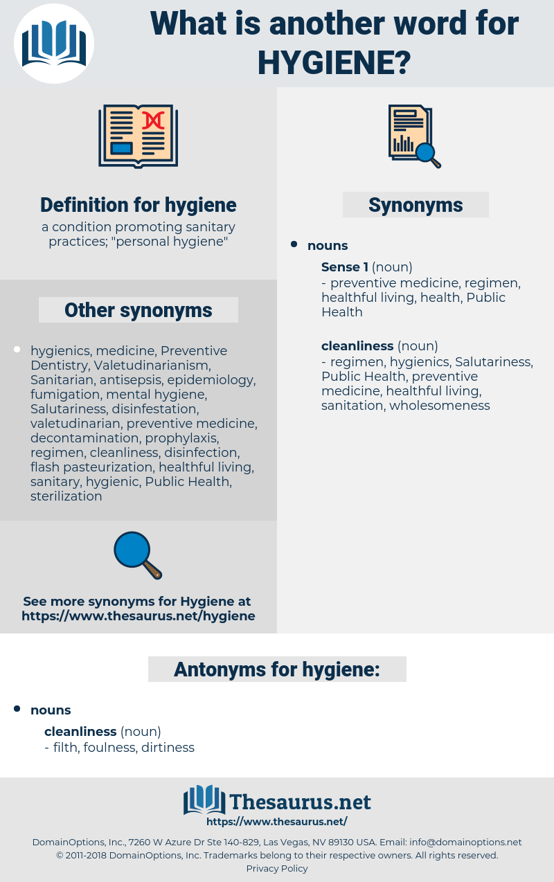 synonyms for hygiene - thesaurus