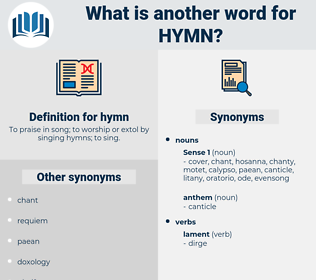 hymn, synonym hymn, another word for hymn, words like hymn, thesaurus hymn