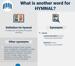 hymnal, synonym hymnal, another word for hymnal, words like hymnal, thesaurus hymnal