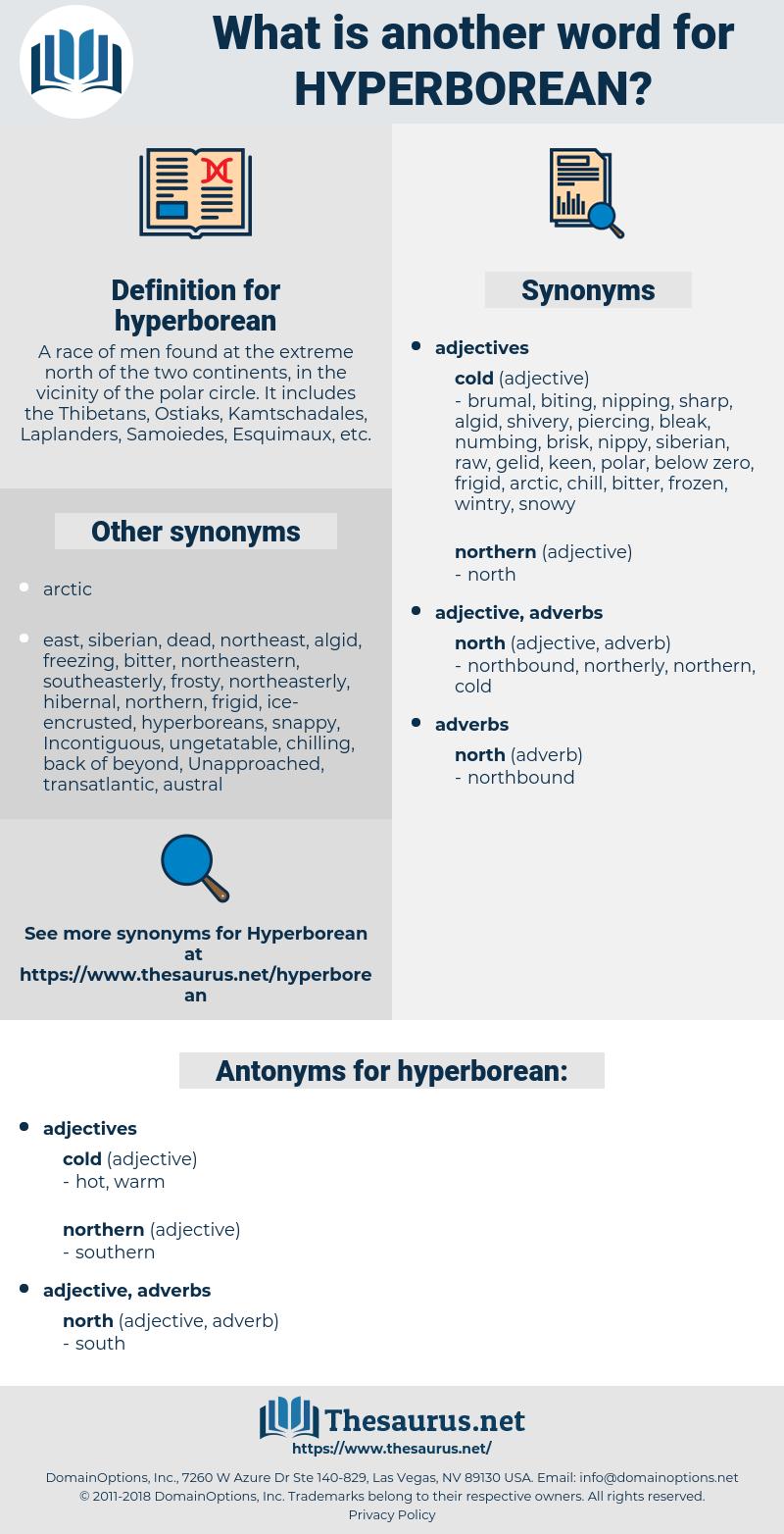 hyperborean, synonym hyperborean, another word for hyperborean, words like hyperborean, thesaurus hyperborean