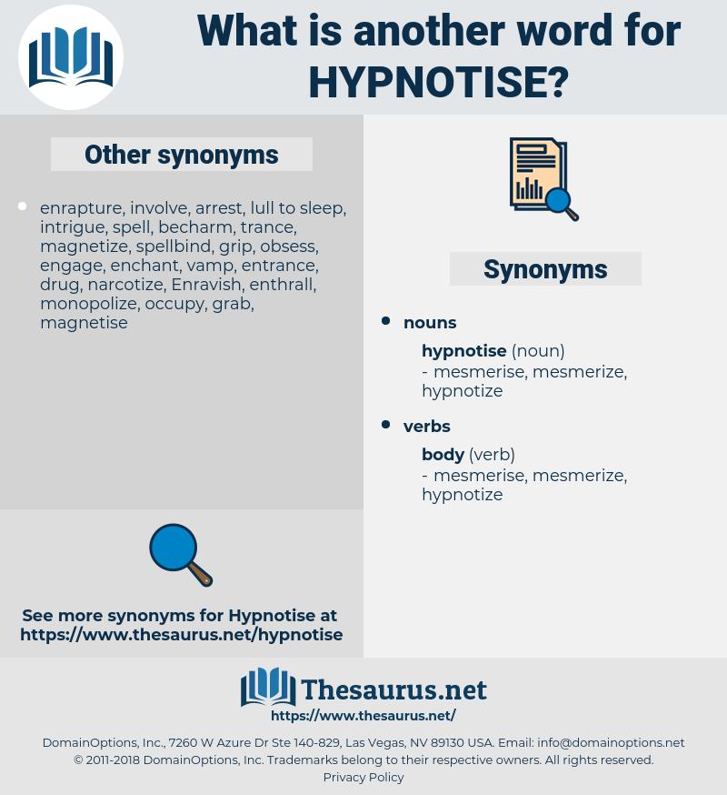 hypnotise, synonym hypnotise, another word for hypnotise, words like hypnotise, thesaurus hypnotise