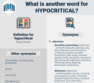 hypocritical, synonym hypocritical, another word for hypocritical, words like hypocritical, thesaurus hypocritical