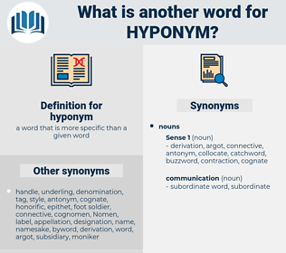 hyponym, synonym hyponym, another word for hyponym, words like hyponym, thesaurus hyponym