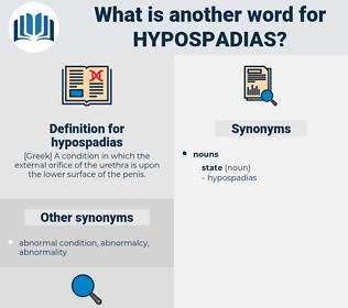 hypospadias, synonym hypospadias, another word for hypospadias, words like hypospadias, thesaurus hypospadias