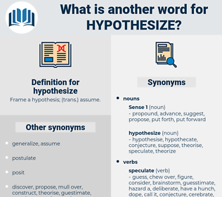 hypothesize, synonym hypothesize, another word for hypothesize, words like hypothesize, thesaurus hypothesize