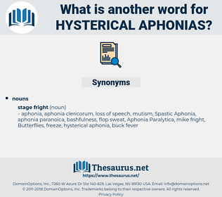 hysterical aphonias, synonym hysterical aphonias, another word for hysterical aphonias, words like hysterical aphonias, thesaurus hysterical aphonias