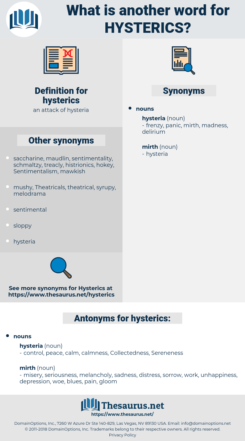 hysterics, synonym hysterics, another word for hysterics, words like hysterics, thesaurus hysterics