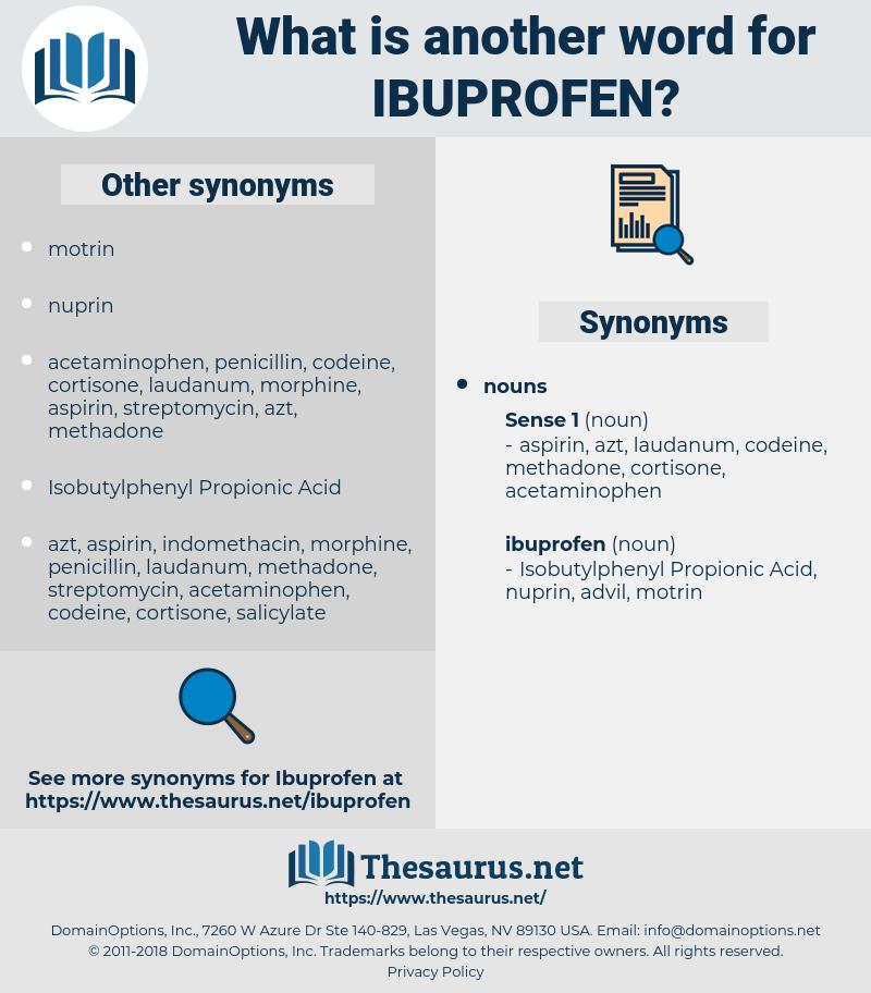 ibuprofen, synonym ibuprofen, another word for ibuprofen, words like ibuprofen, thesaurus ibuprofen