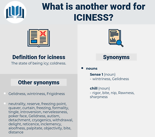 iciness, synonym iciness, another word for iciness, words like iciness, thesaurus iciness