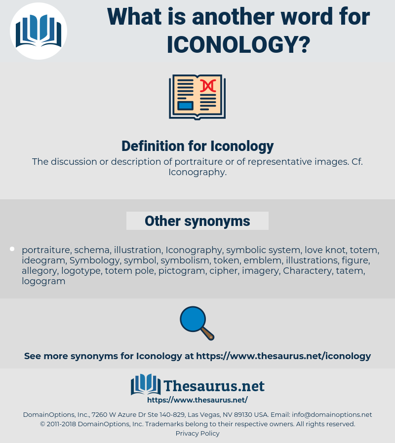 Iconology, synonym Iconology, another word for Iconology, words like Iconology, thesaurus Iconology