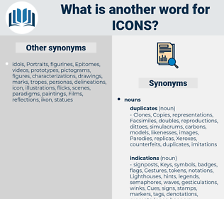 icons, synonym icons, another word for icons, words like icons, thesaurus icons