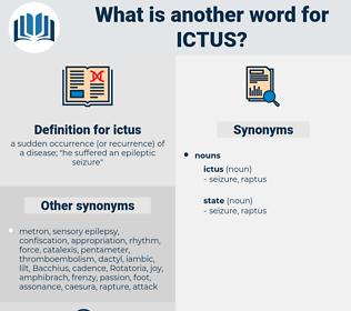 ictus, synonym ictus, another word for ictus, words like ictus, thesaurus ictus