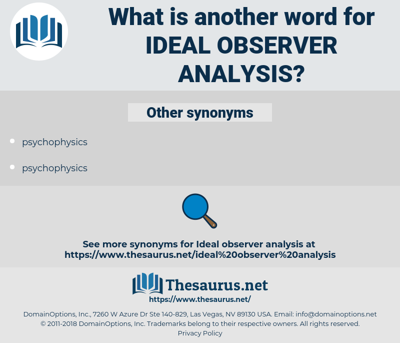 ideal observer analysis, synonym ideal observer analysis, another word for ideal observer analysis, words like ideal observer analysis, thesaurus ideal observer analysis