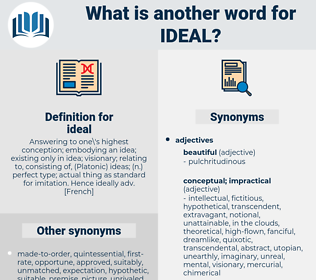 ideal, synonym ideal, another word for ideal, words like ideal, thesaurus ideal