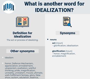 idealization, synonym idealization, another word for idealization, words like idealization, thesaurus idealization